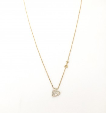 diamond heart arrow necklace