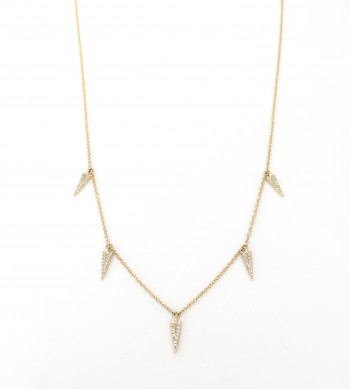 mini diamond dagger drip necklace