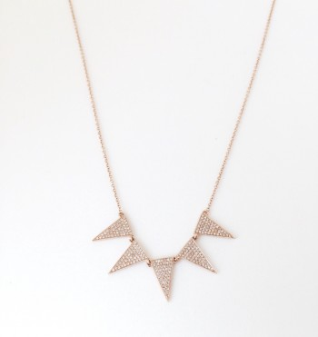 diamond triangle spike necklace