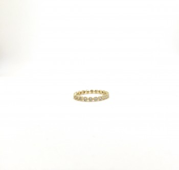 diamond bezel milgrain eternity band