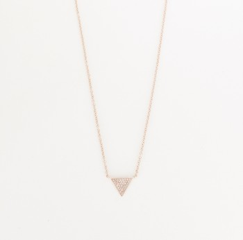 Mini triangle diamond necklace