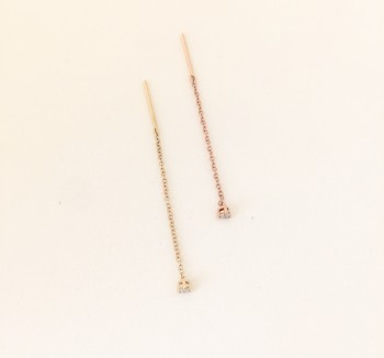 single diamond threader earrings