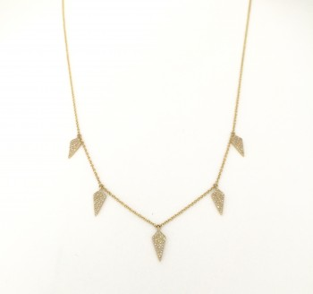 diamond spike drip necklace