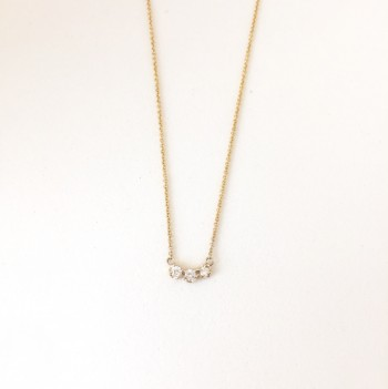Petite trio diamond necklace