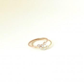 petite trio diamond ring