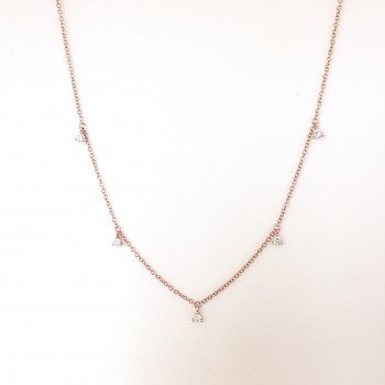 5 Diamond Shaker Choker Necklace
