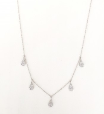 diamond pear drip necklace