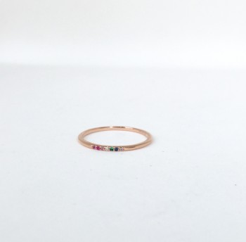 Lucky 7 Multi color stone ring