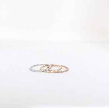 14k micro diamond band