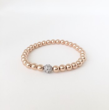 5MM Gold Filled Bracelet with Silver CZ Ball