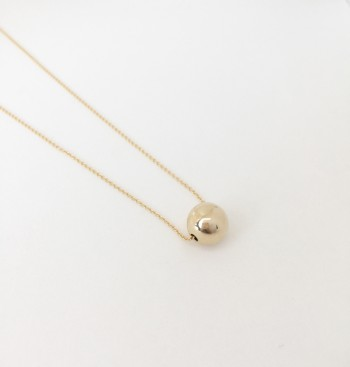 14k gold filled sphere necklace