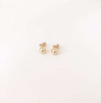 14K Gold filled sphere stud earrings
