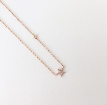 mama+mini diamond star necklace