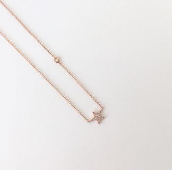 mama+mini diamond star necklace