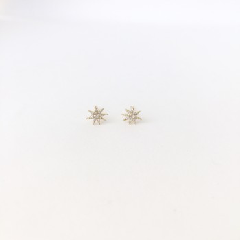 Mini diamond starburst stud earrings