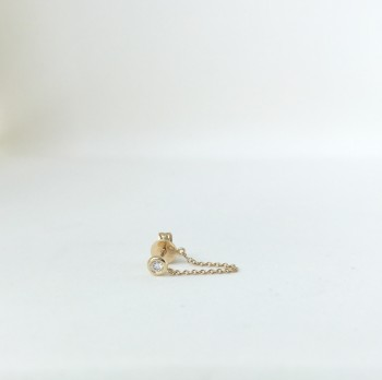 Diamond Bezel Chain Earring