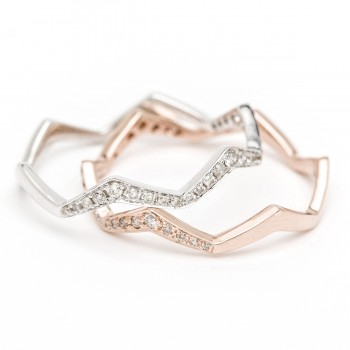 Diamond wave stack ring