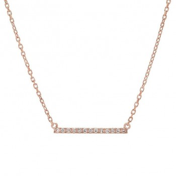 mini micro diamond bar necklace