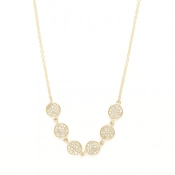 Multi round diamond disc necklace