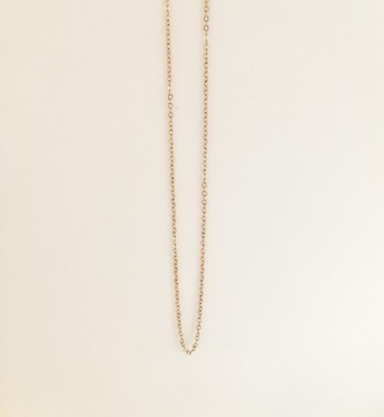 14K Solid Yellow Gold Link Choker Necklace