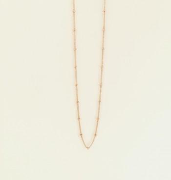 14K gold satellite choker necklace