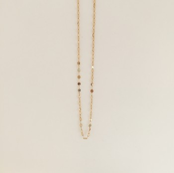 14K gold mirrored chain necklace