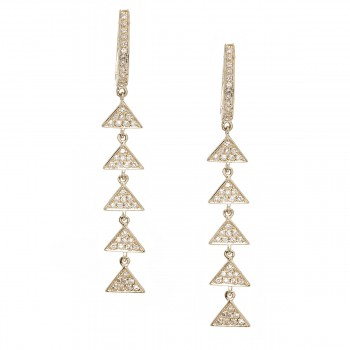 Multi triangle diamond drop earrings