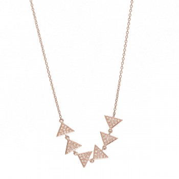 Multi triangle diamond necklace