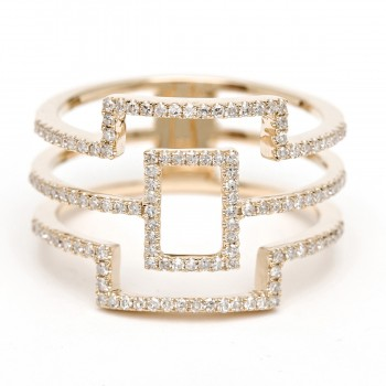 Diamond geometric square ring
