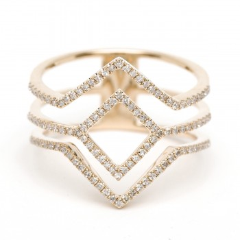 Diamond geometric triangle ring
