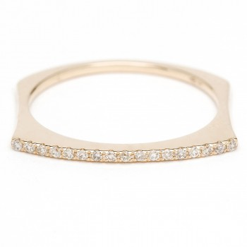 Diamond bar stack ring