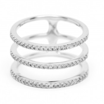 Diamond multi spiral ring