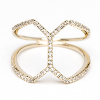 Diamond geometric comb ring