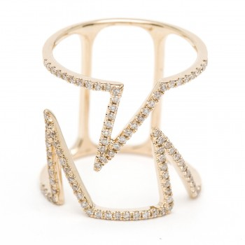 Diamond geometric tri ring
